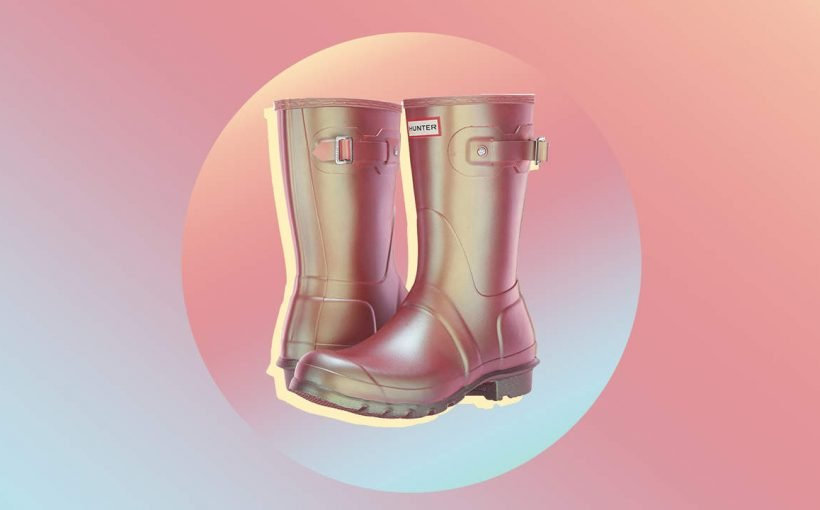 29a47c9e4ec Hunter's New Pink Iridescent Rain Boots Are the Best Purchase You'll ...